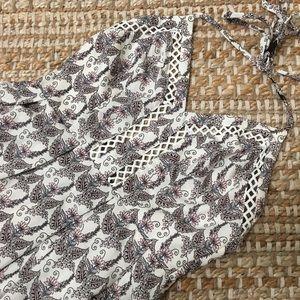 illa illa fun floral halter top mini dress